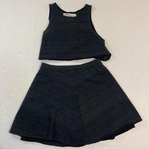 Free People Beach Eyelet Two Piece Tank Skirt XS
